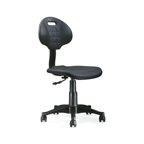 Height Adjustable Lab Chair with Back Support and Wheels