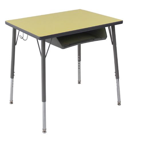 School furniture combination height adjustable cantileverbased student desk